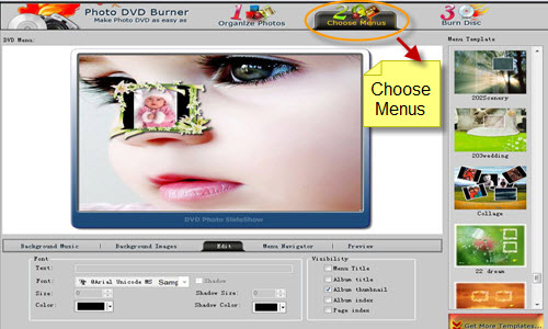 choose menus