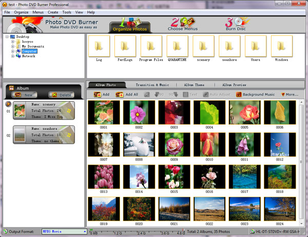 create flv photo slideshow