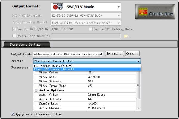 Create Flash SWF Photo Slideshow