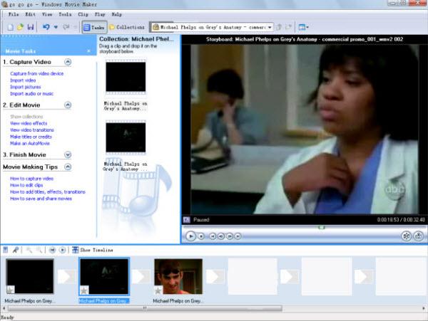 Windows movie maker narration music