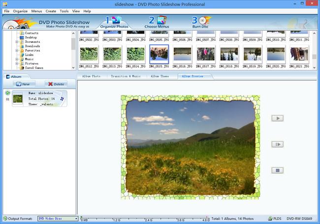 best Windows 8 slideshow maker with album