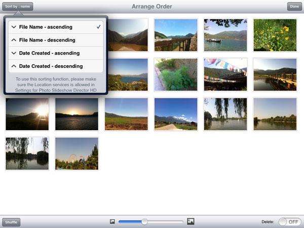 sort slides