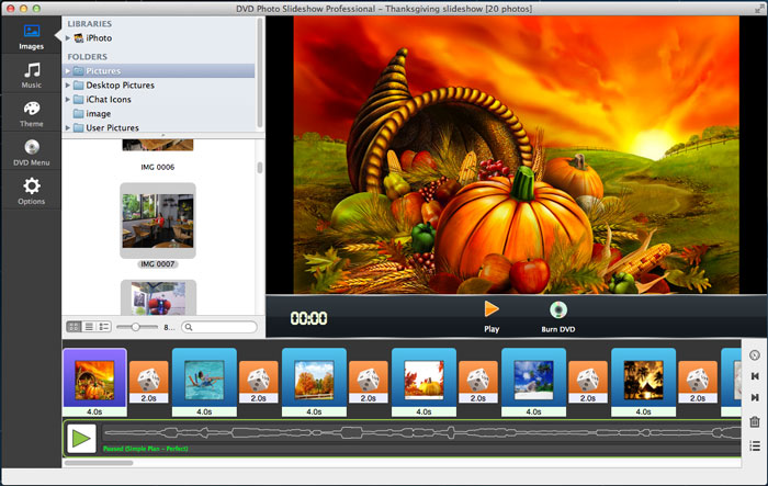 Thanksgiving Slideshow Software