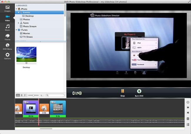 burn iphoto slideshow to DVD